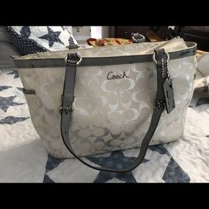 Authentic Coach purse. White and silver